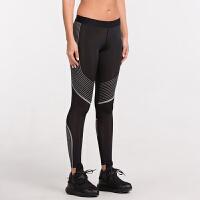 2018031930347紧身裤女运动跑步速干训练压缩裤弹力显瘦透气打底健身裤瑜伽长裤