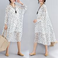 两件套实拍韩版大码女装优质雪纺圆领宽松文艺娃娃裙连衣裙2196