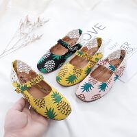 女童皮鞋外穿镂空儿童公主鞋防滑软底单鞋