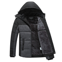 爸爸装冬装加绒加厚中年男士棉衣外套40秋冬季棉袄中老年50岁