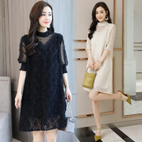蕾丝纯色潮流气质韩版百搭宽松休闲时尚显瘦修身年夏季