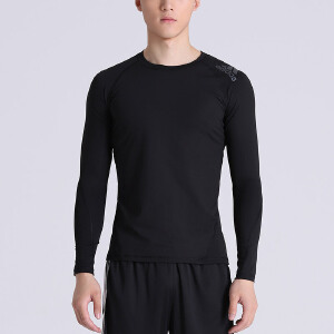 adidas阿迪达斯男子长袖T恤2018新款跑步训练健身运动服CF7267