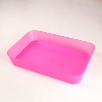 红蓝塑料收纳盒长方形冰盘耐摔无盖食品保鲜盒工具