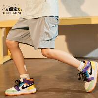 【2件3折:80.7元】小虎宝儿新款男童薄款短裤夏季中大童五分裤子