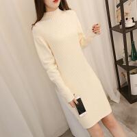 韩版女装冬季毛衣女冬连衣裙潮流时尚新款气质显瘦厚中长款打底潮