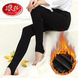 浪莎保暖裤秋冬加厚加绒连裤袜女10000D踩脚打底袜保暖瘦腿打底裤袜