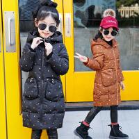 儿童棉衣2018冬季新款中大童韩版厚款外套中长款棉袄女孩
