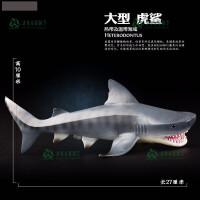 巨齿鲨动物模型玩具海洋生物动物史前鲨鱼儿童男孩玩具