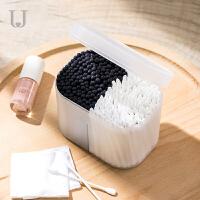 棉签防尘化妆棉分装盒收纳盒棉签小盒带盖桌面棉签化妆盒