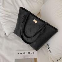 【特惠】2019优选大包包女包新款20*容量单肩手提包时尚韩版菱格托特包女士包袋