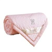蚕丝两用加大被褥纤维毯子双人床夏季被子薄夏凉被空调被棉柔J 玉色 220*240CM6斤冬被