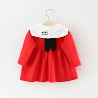 童装女童裙子春秋儿童海军风连衣裙0一1-3岁小童宝宝春装