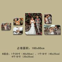 韩式水晶客厅照片墙相框墙创意组合卧室相片墙婚纱照简约现代生活日用居家创意新品 大韩水晶照片墙组合