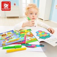 【满199减100】特宝儿 儿童画画书宝宝涂色本画册玩具幼儿园图画本涂鸦填色书简笔画儿童玩具