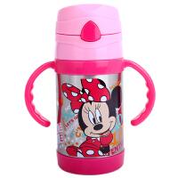 迪士尼保温保冷吸管杯 宝宝水杯带手柄水壶260ml