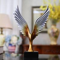 现代简约老鹰摆件创意办公室桌面开业工艺礼品客厅酒柜装饰小摆设 抖音