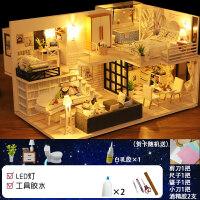 3d立体拼图木质模型女孩玩具屋少女小房子套装手工制作DIY小屋儿童