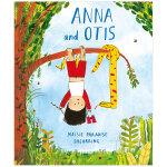Anna and Otis 安娜与小蛇 英文艺术绘本 Maisie Paradise