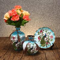 家居饰品房间家装酒柜装饰品摆件客厅欧式摆设玄关陶瓷工艺品 带花