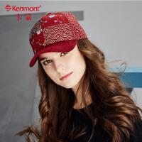 秋冬季帽子女印花棒球帽韩版潮冬天时尚女士帽子碎花拼接鸭舌帽2434