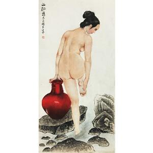 王生中《裸女图》著名画家