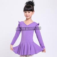 儿童舞蹈服装 女童连体练功服 芭蕾舞裙 春秋长袖幼儿考级体操服