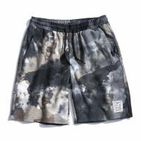 夏季日系迷彩休闲短裤男士加肥加大码韩版宽松五分裤潮流运动裤子