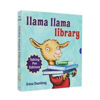 点读版 羊驼拉玛 8册盒装 Llama Llama talking pen editions 英文原版绘本 韵文故事情