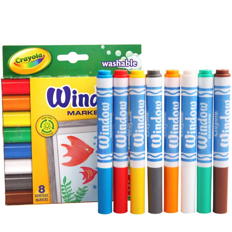 当当自营Crayola 绘儿乐 8色可水洗橱窗装饰水笔 58-8165