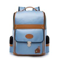 书包中学生男女双肩背包护包高中初中学生男女包 浅蓝色