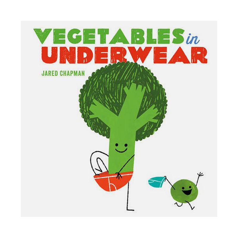 Vegetables in Underwear 穿短裤的蔬菜 英文原版 儿童绘本 纸板童书 善本图书 汇聚全球出版物,让阅读改变生活,给你无限知识