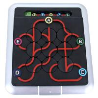 小乖蛋正版 地下铁迷宫玩具益智桌面游戏64关任务迷宫 8岁以上 地下铁