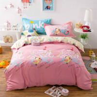 家纺四件套斜纹印花纯棉四件套卡通床上用品4件套