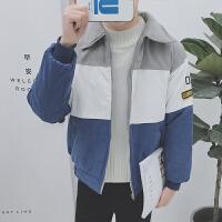 韩观冬季男士棉衣棉袄外套韩版潮流学生衣服面包男装大码2017新款 蓝色 9021
