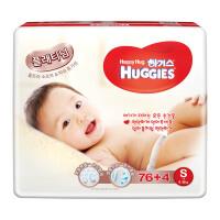 【网易考拉】【官方直采】HUGGIES 好奇 铂金装纸尿裤 S 76+4片 韩国进口