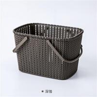 手提洗澡篮子放洗漱用品的浴筐韩国可爱洗浴沐浴蓝浴室收纳框塑料