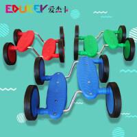 平衡踩踏车幼儿园感统训练器材无扶手四轮脚踏车儿童玩具教具滑板