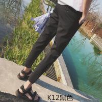 薄款小码男西装裤修身26码九分小脚休闲西服裤西裤紧身小个子