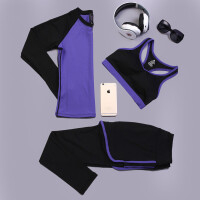 愈加服套装 健身跑步运动衣服女秋季长袖专业瑜伽三件套
