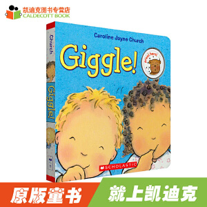 """#凯迪克 进口英语英文原绘本 Giggle! 幼儿启蒙趣味发声书纸板 一本""""会笑""""的书 0-3-5岁 【纸板】"""