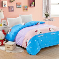 床上用品被套被罩单人双人单件磨毛200x230T hello kitty 被套200*230cm