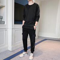 卫衣套装男士秋季韩版潮流青少年运动服休闲修身男装秋装两件套