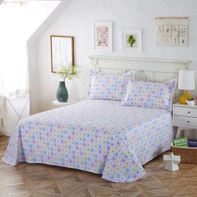当当优品 纯棉斜纹床上用品 床单200*230cm 天空之城B款当当自营 100%纯棉 吸汗透气 可贴身裸睡 0甲醛