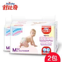 舒比奇初生时代薄乐双吸纸尿片 超薄透气婴儿尿片 M码 2包 112片