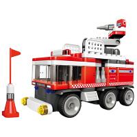 可积木消防车拼装布鲁克玩具儿童益智拼插积木