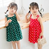 儿童夏装女宝宝公主吊带裙子女孩童装女童连衣裙