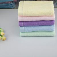 竹纤维毛巾 素色缎边健康防臭面巾美容巾 一等8317