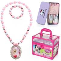 迪士尼儿童化妆品套装女孩公主彩妆盒演出手提箱玩具生日礼物