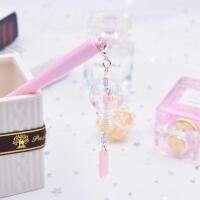 风铃挂件中性笔韩国创意小清新可爱樱花吊坠笔黑色水笔女生文具笔礼物SN9199