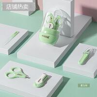 婴儿指甲剪套装新生儿宝宝专用幼儿童指甲钳防夹肉指甲刀 组合装
